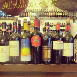 Antico Vinaio choix de vins Florence