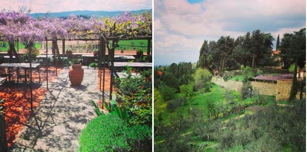 Chianti Toscane Trattoria Oltre il giardino Panzano terrasse