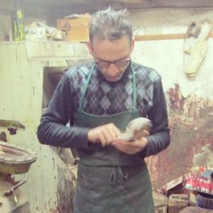 Francesco sandale cuir Florence Santo Spirito Valerio