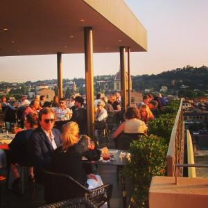 Westin Excelsior Firenze Sesto Terrasse roof top aperitivo Alidifirenze Ognissanti coucher de soleil