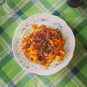 village bottega Volpaia Chianti Gina pasta ragu alidifirenze