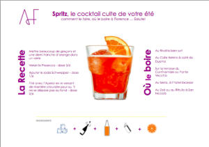 Recette Spritz Florence Alidifirenze