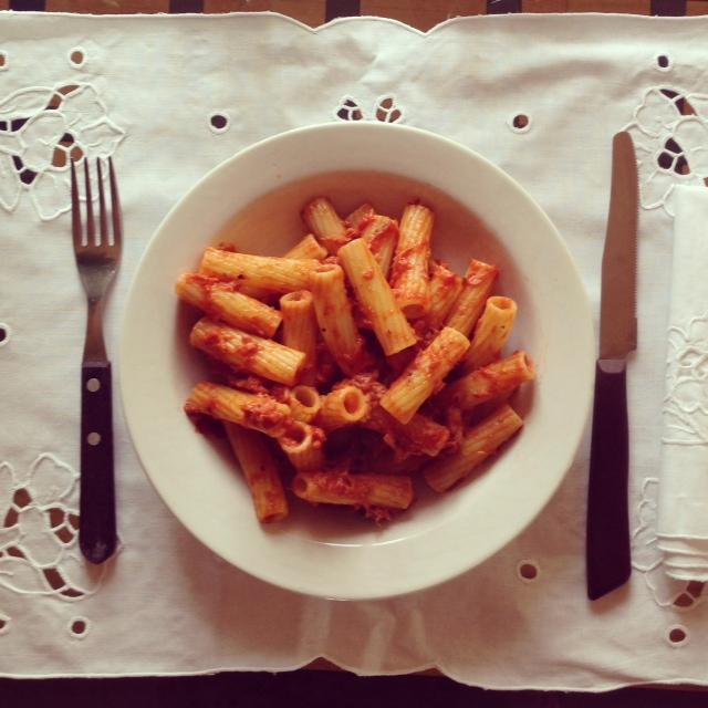 Recette italienne pates au thon olives capres Alidifirenze 4
