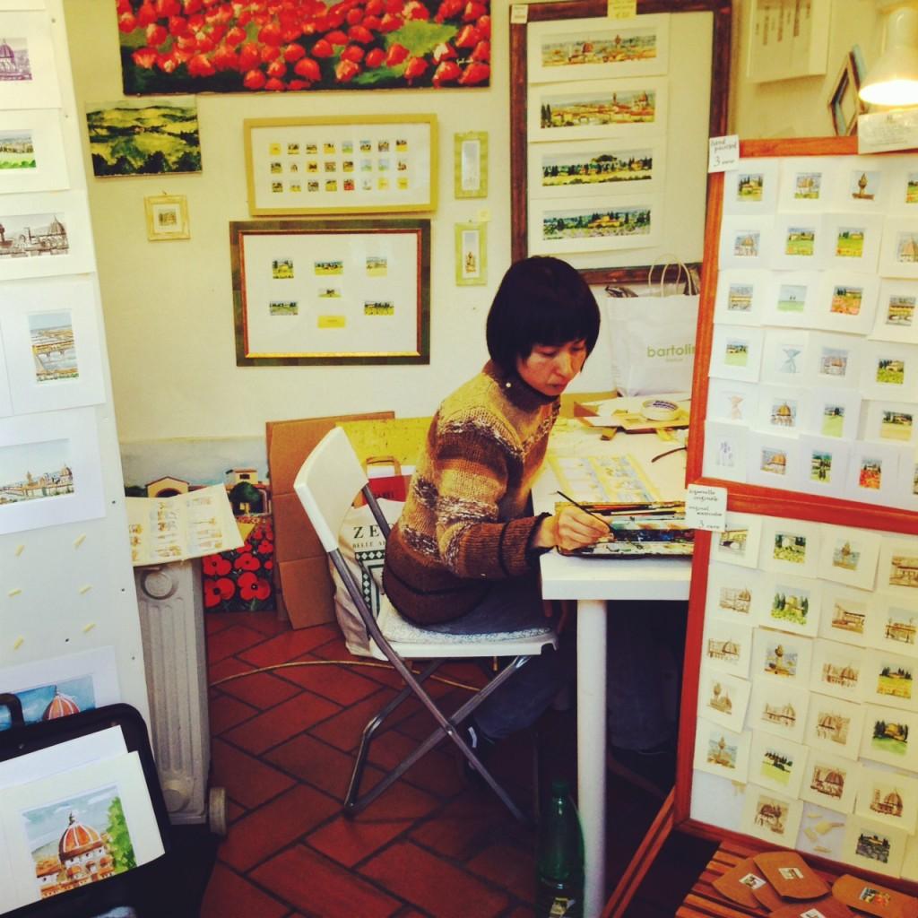 Junko Mukai aquarelles Florence Alidifirenze2