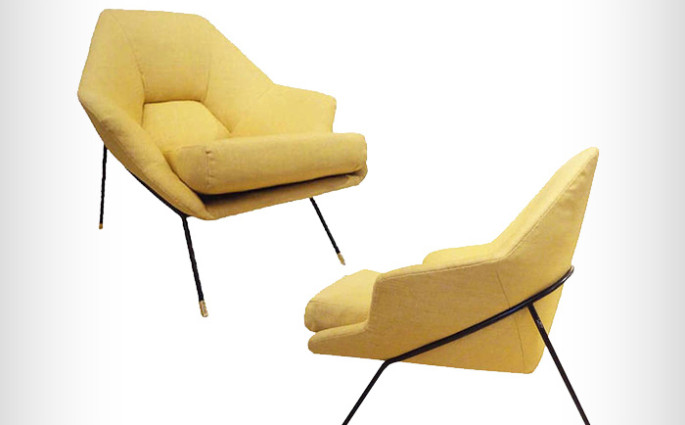 Augusto Bozzi Paire de fauteuils 1954