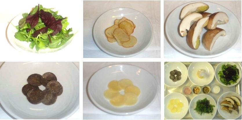 Ingrédients recette salade cèpes Vito Mollica Alidifirenze