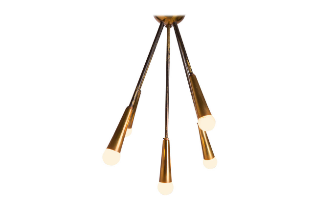 Italian 1950s Sputnik Ceiling Lamp