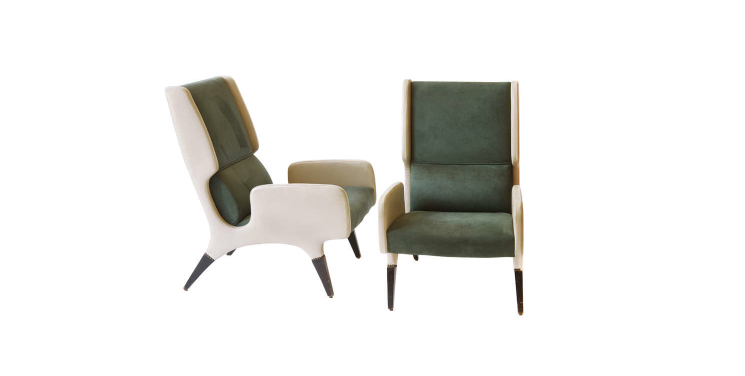 Rare Pair of Gio Ponti Armchairs 866 by Cassina from Pdp Hotel, Roma