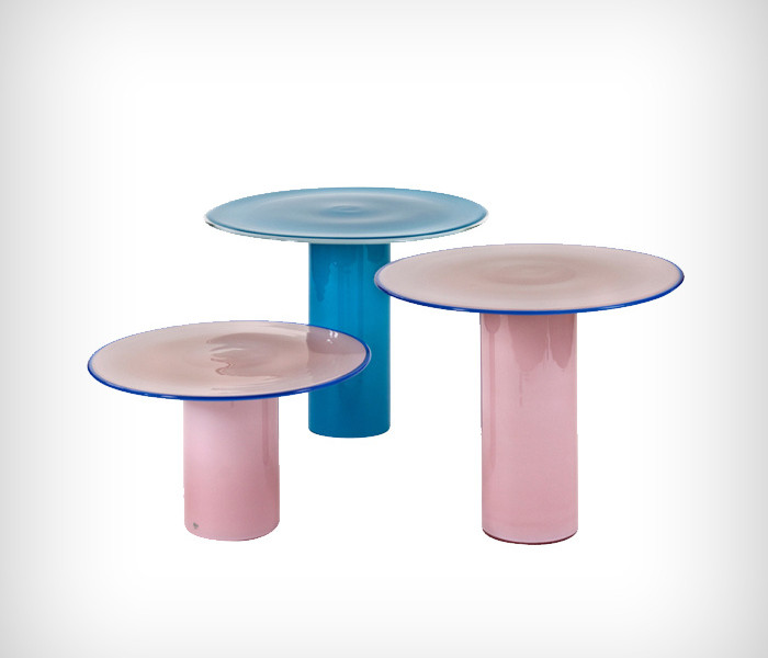 Vistosi Tables en verres de Murano 1980