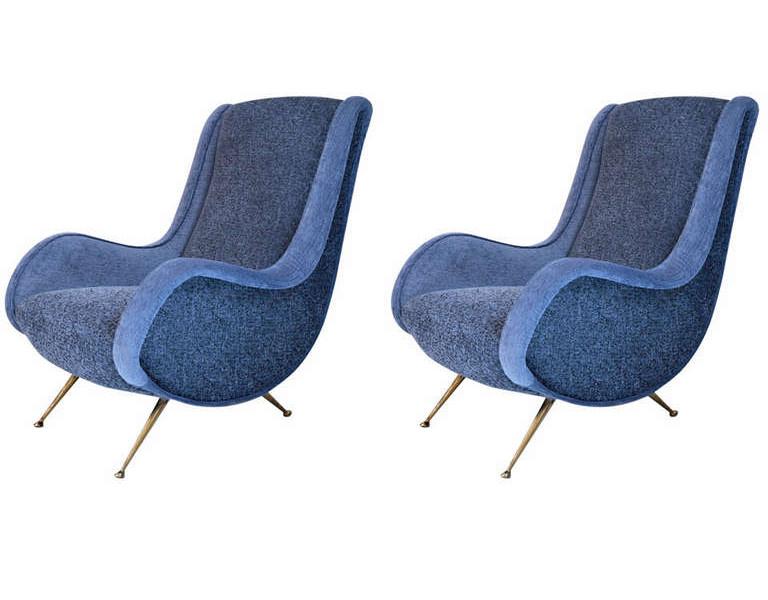 pair of Italian 1950s Armchairs