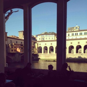 Café Florence Ponte Vecchio golden view Alidifirenze2