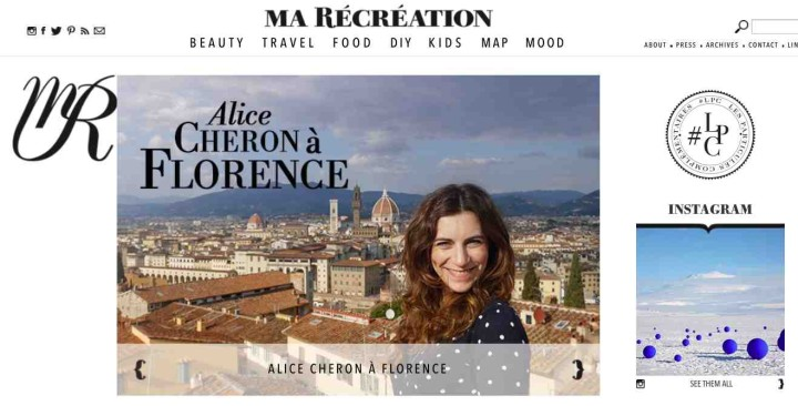 Alice Cheron Ma Recreation parcours Florence