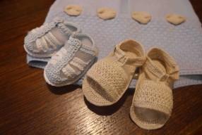 Sandales tricotées chez Assunta Anichini