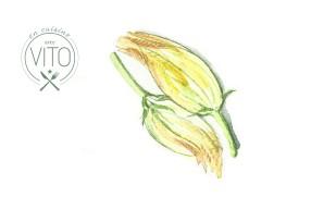 Juillet // Fleur de courgette farçie à la ricotta et sauce à la tomate