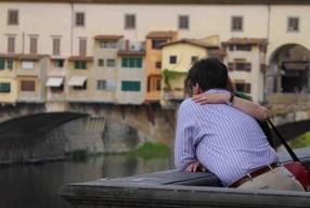 Passeggiata #19 Touristes pensifs au Ponte Vecchio