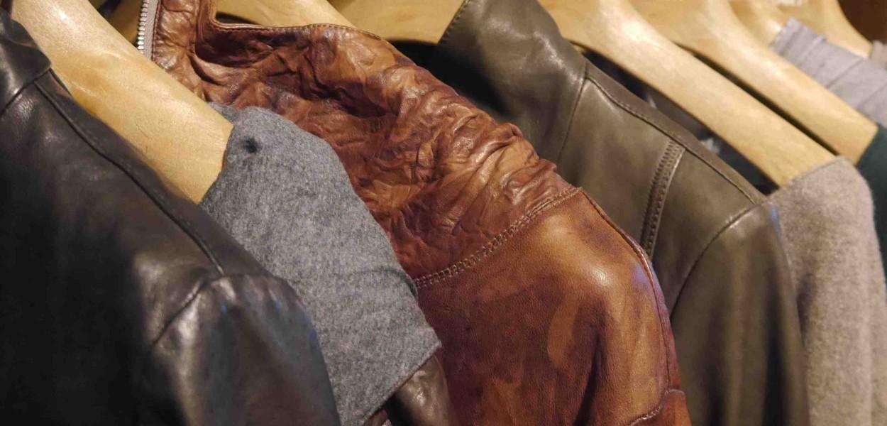 Une veste en cuir à Florence