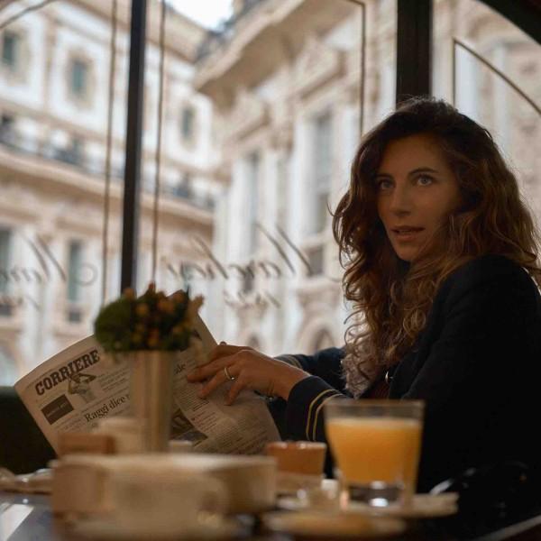 Intérieur du café marchesi à milan