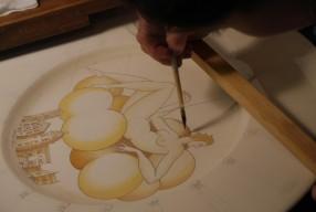 Des motifs peints à la main chez Richard Ginori