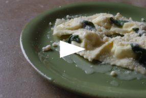 Leçon particulière : ravioli à la ricotta, au beurre et à la sauge
