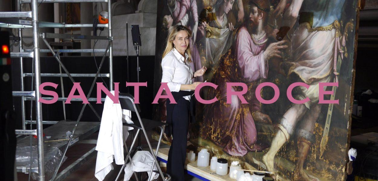 Restauration d'un Vasari à Santa Croce avec Tessa Castellano