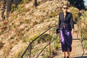 Style Story à Portofino avec Grazia Giachi /  Slip dress grand soir