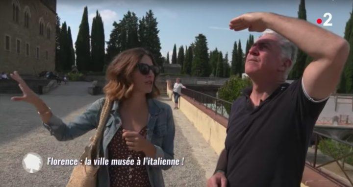Alice faisant découvrir Florence en Italie