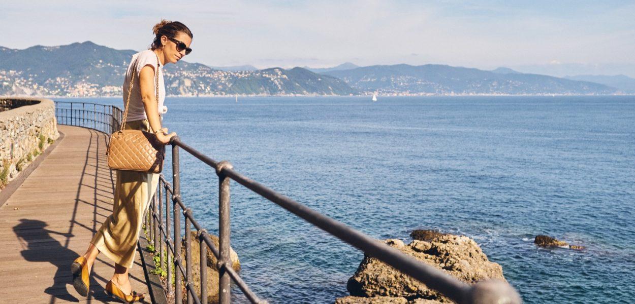 Style Story à Portofino avec Grazia Giachi / Daily chic en slip dress