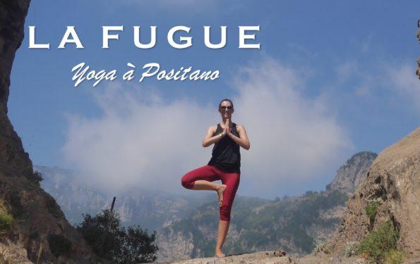 Alice en train de faire du Yoga en Italie durant les Fugues