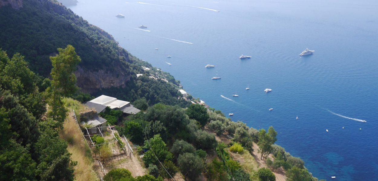Vue de la côte Amalfitaine en Italie