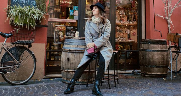 Alice en visite en Italie à Florence