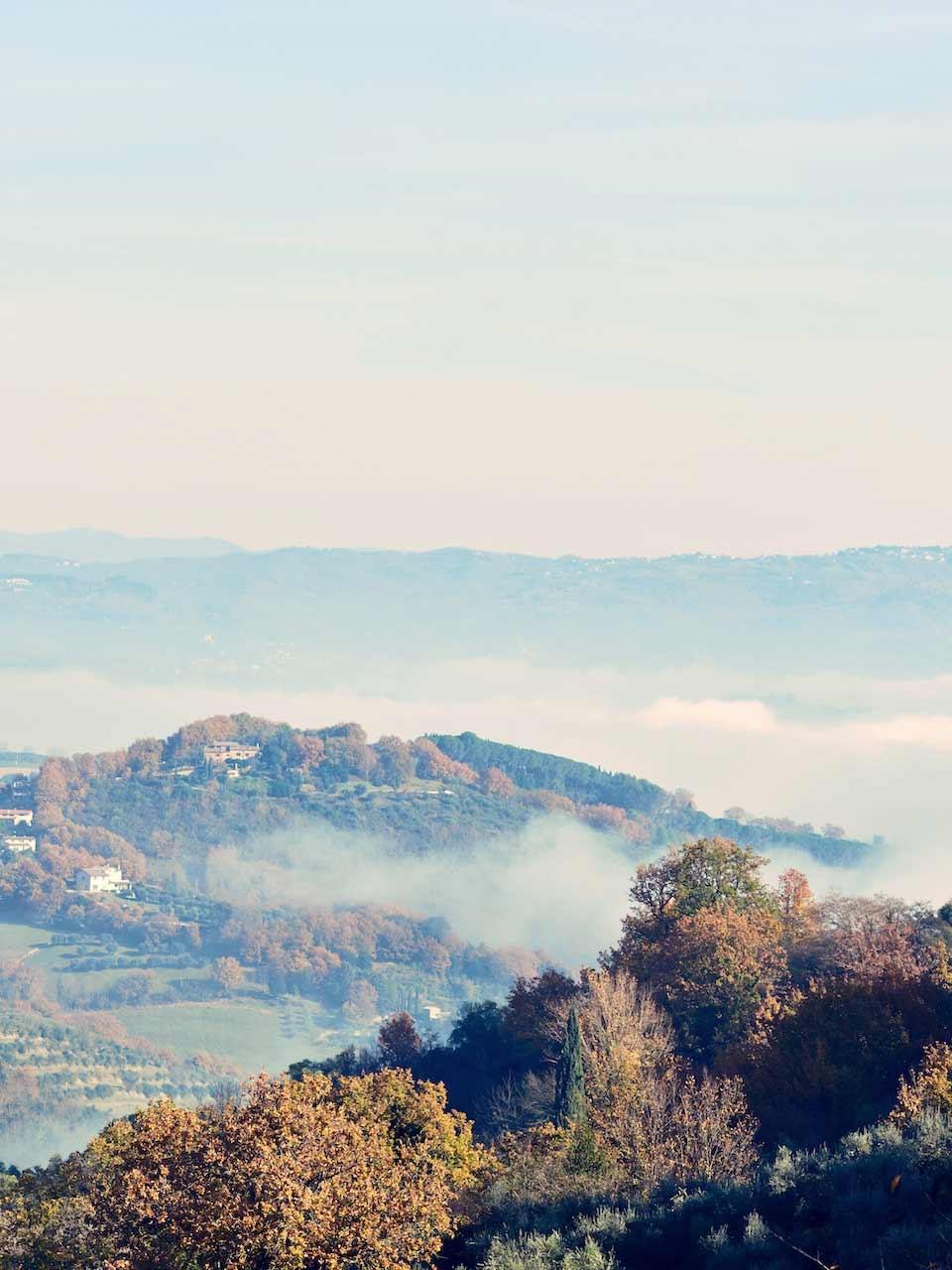 Paysage d'ombrie pour les vacances en Italie