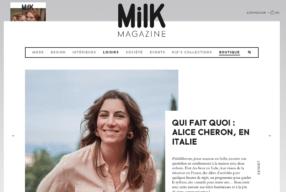 Mon interview «Qui fait quoi» pour MILK Magazine