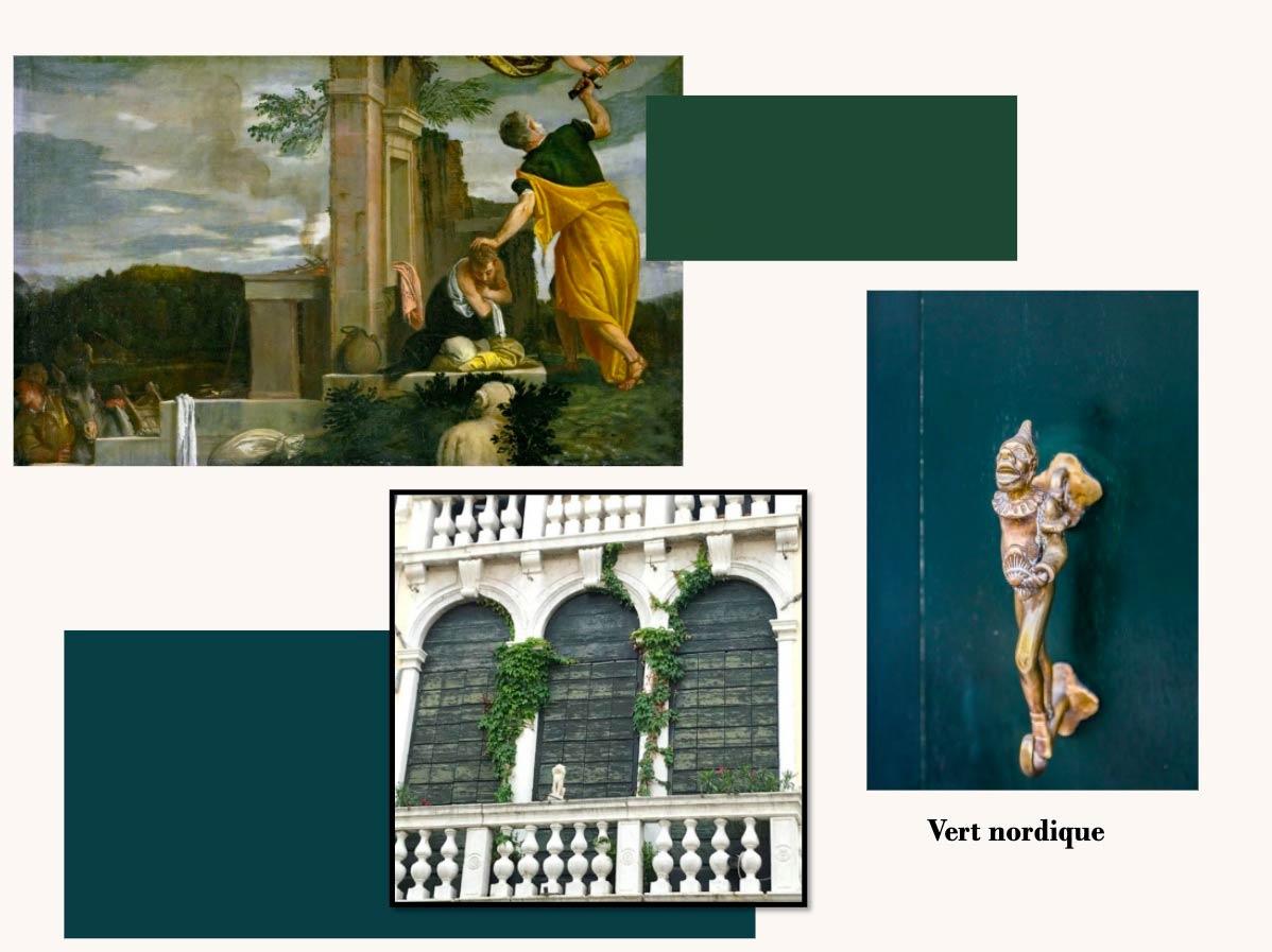 Photos de peintures et façades en Vert Nordique