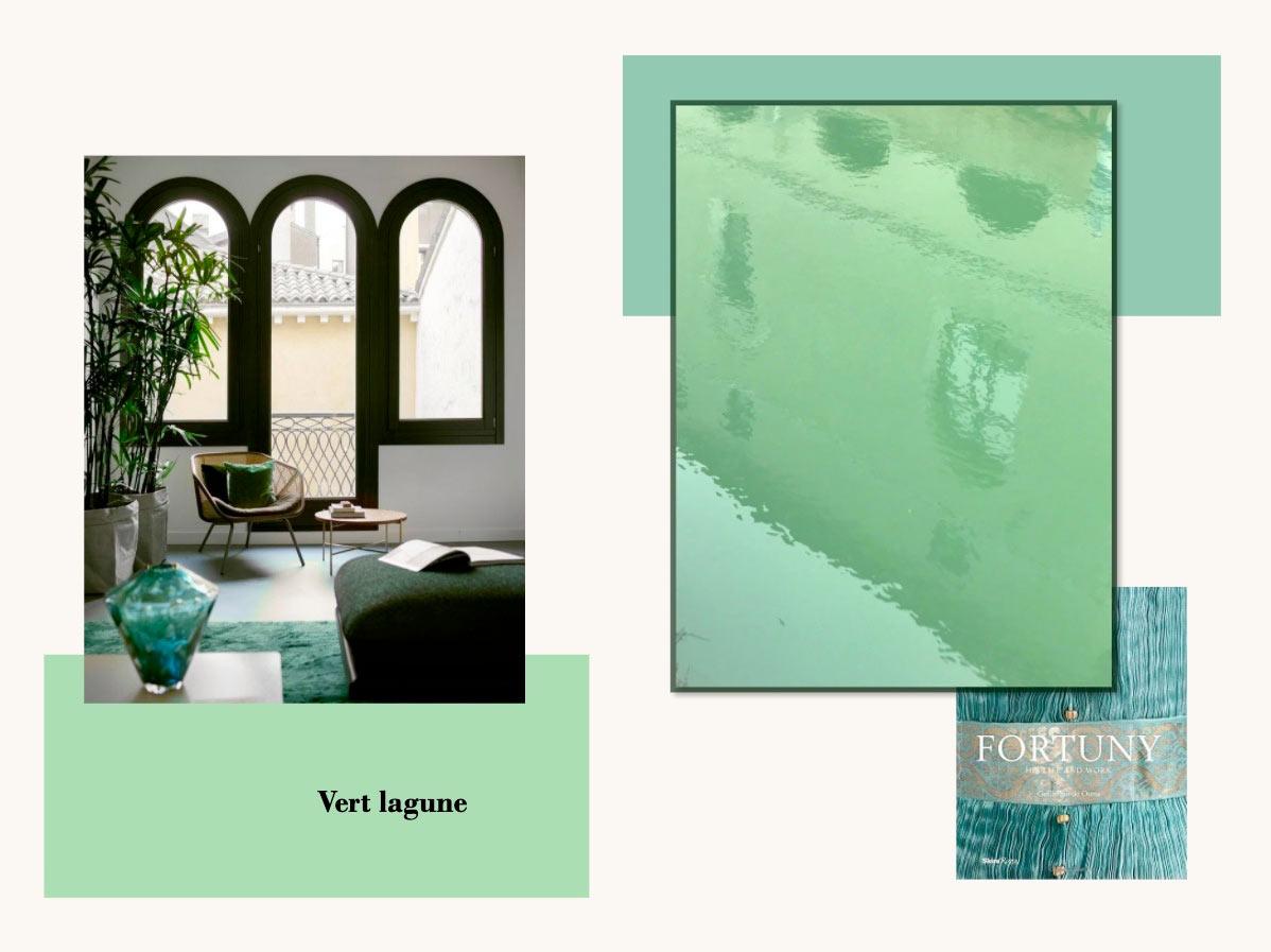 Palette de couleur vert lagune à venise