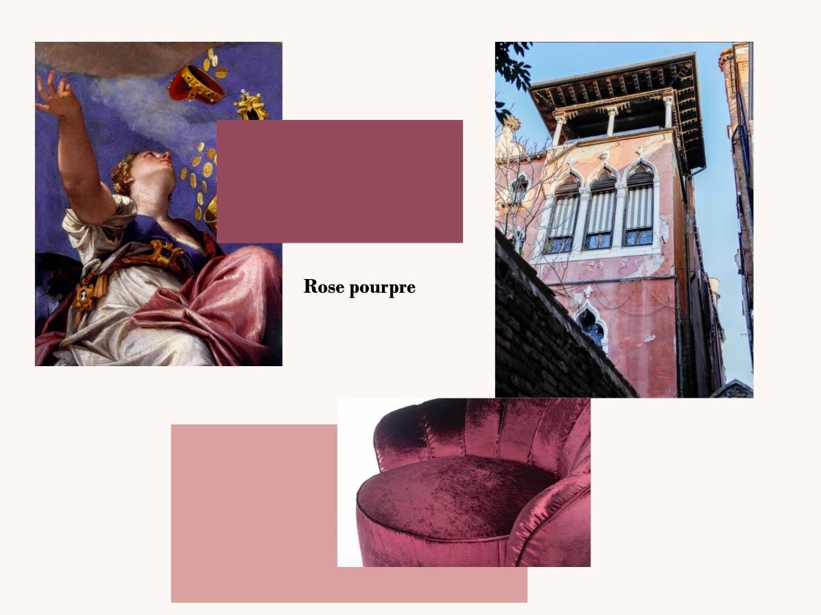 Palette de couleurs rose pourpre