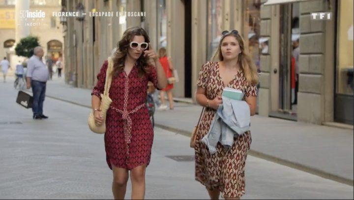 Alice dans les rues de Florence pour l'emission 50min inside