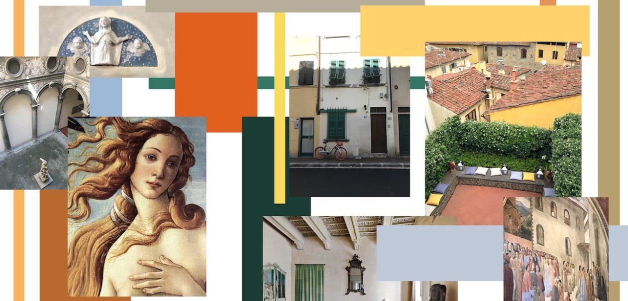 Palette florentine, l'art et le paysage Renaissance dans un intérieur