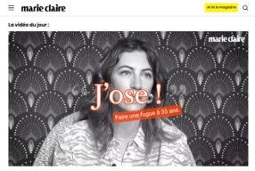 Ma vidéo «J'OSE» pour Marie-Claire!