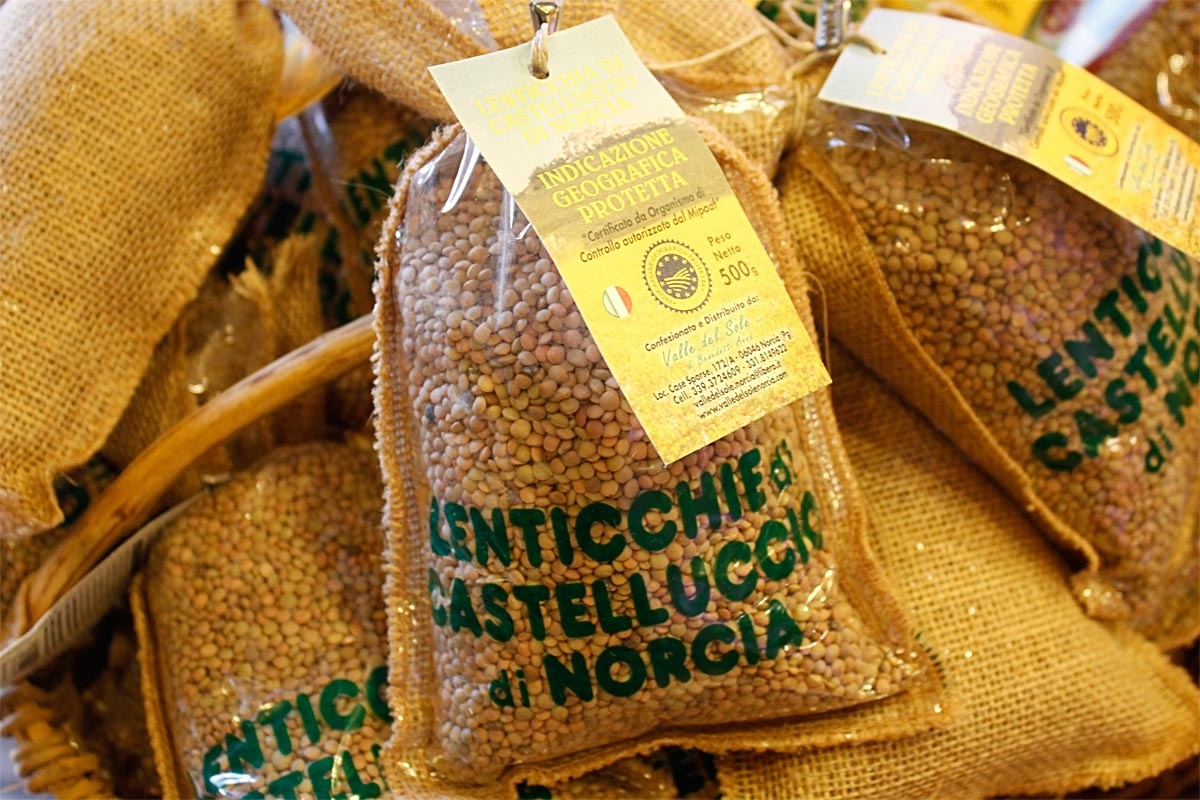 Lentilles d'Ombrie en Italie