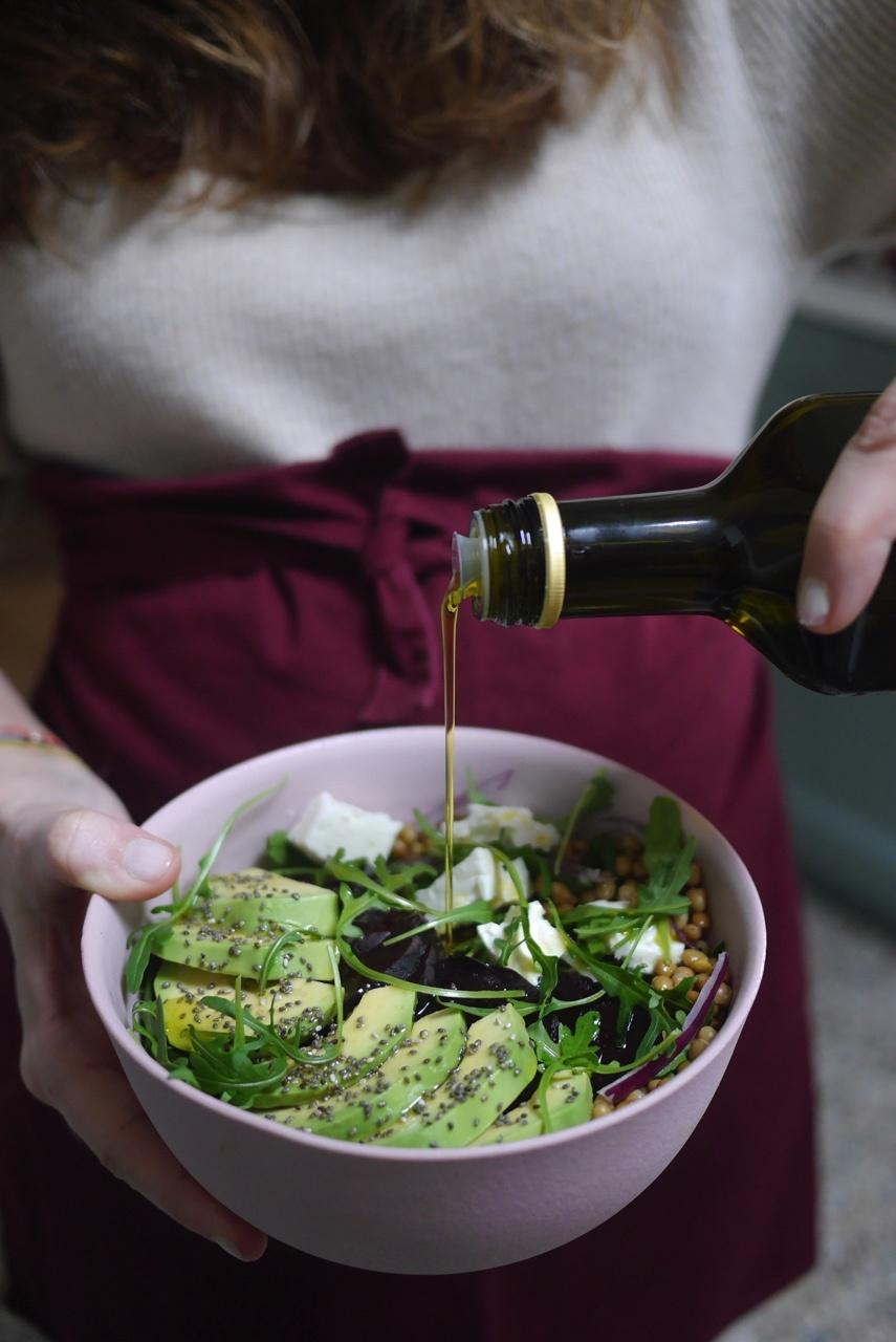 recette betterave lentille feta