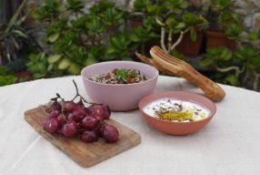 My Italian Bowl de chef // Taboulé et raisins rôtis aglio, olio, pepperoncino