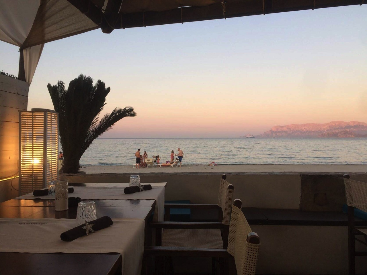 sardaigne terrasse plage