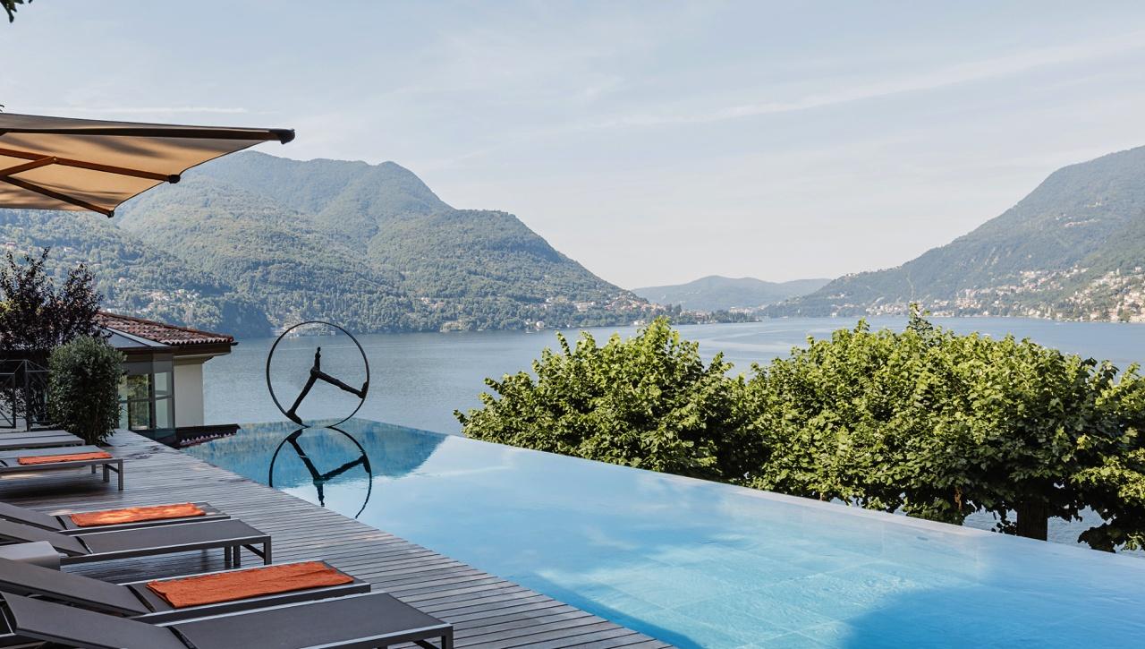 villa lario piscine lac come