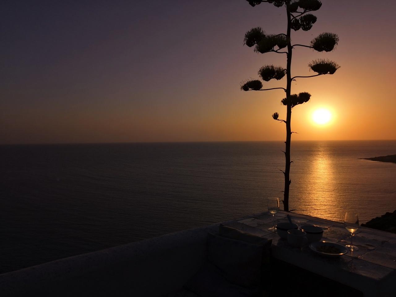 coucher soleil mer italie pantelleria