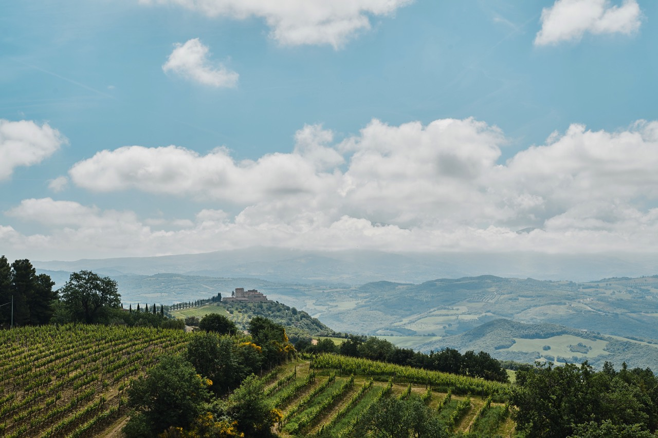 val orcia paysage collines