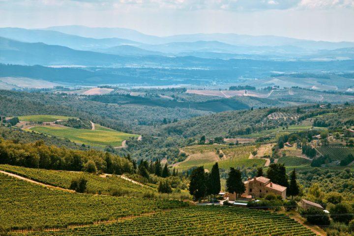 paysage chianti collines