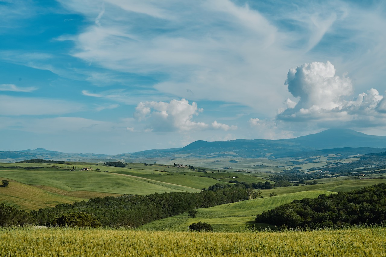 collines val orcia paysage