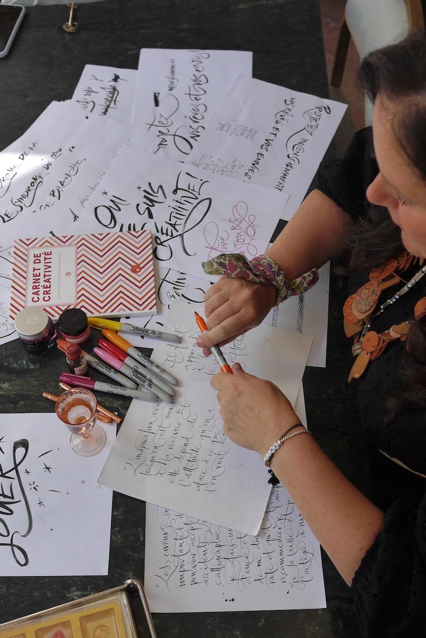 Carnet creativite betty calligraphie