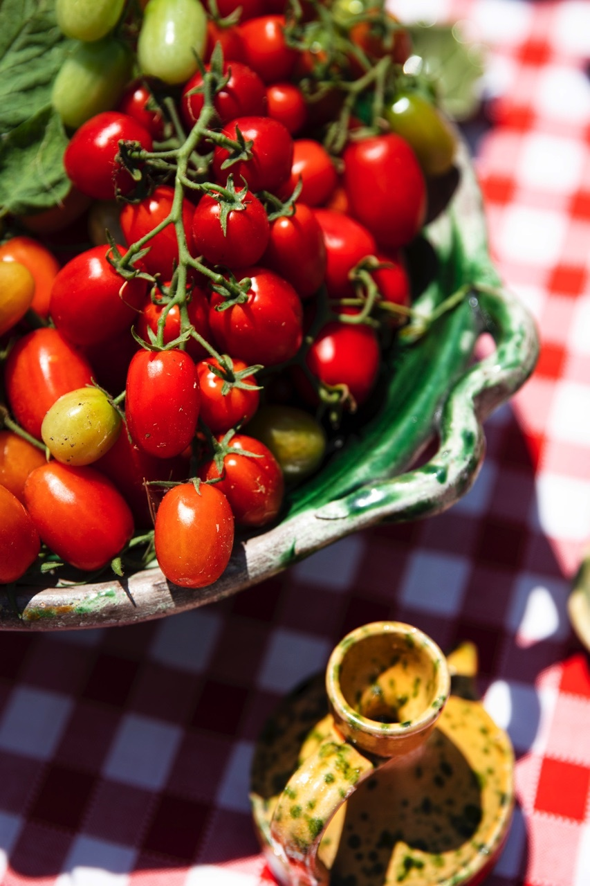 tomates huile olive table